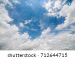white cloud frame and blue sky... | Shutterstock . vector #712644715
