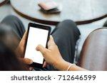 women use smartphone.... | Shutterstock . vector #712646599