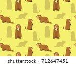 cute marmot wallpaper   Shutterstock .eps vector #712647451