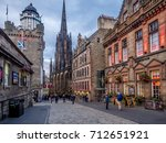 edinburgh  scotland   july 28 ... | Shutterstock . vector #712651921