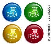 money bag multi color gradient...