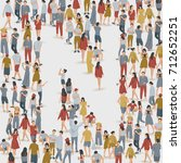 crowd of people in the shape of ... | Shutterstock .eps vector #712652251