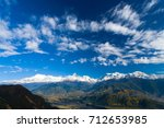 white snowy tops of the... | Shutterstock . vector #712653985