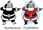 santa claus points at something ...   Shutterstock .eps vector #712654411