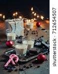 homemade baileys or coffee... | Shutterstock . vector #712654507