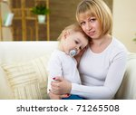 little boy and his young mother ... | Shutterstock . vector #71265508