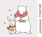 cute draw vector illustration... | Shutterstock .eps vector #712657309