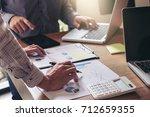 teamwork process  business team ... | Shutterstock . vector #712659355