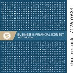 business and finance icon set... | Shutterstock .eps vector #712659634