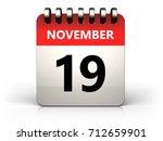 3d Illustration Of 19 November...