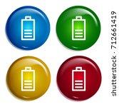 battery multi color gradient...   Shutterstock .eps vector #712661419