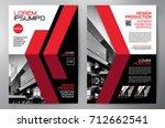 business brochure. flyer design.... | Shutterstock .eps vector #712662541