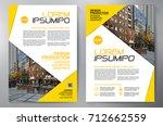 business brochure. flyer design....   Shutterstock .eps vector #712662559