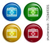 first aid kit multi color...