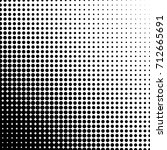 dotted halftone background.... | Shutterstock .eps vector #712665691