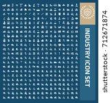 industry icon set vector | Shutterstock .eps vector #712671874