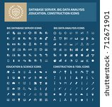 big icon set vector | Shutterstock .eps vector #712671901