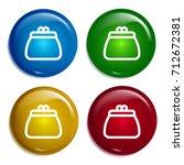 purse multi color gradient...