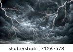 Dark  Ominous Rain Clouds And...