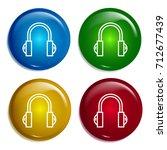 headphones multi color gradient ...