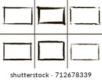 grunge frames collection.... | Shutterstock .eps vector #712678339