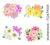 flower set | Shutterstock .eps vector #712679335