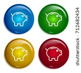 piggy bank multi color gradient ...