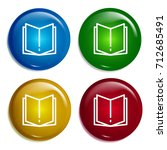 open book multi color gradient...
