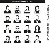 people avatar  character icons | Shutterstock .eps vector #712685839