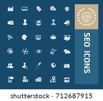 seo development icon set vector  | Shutterstock .eps vector #712687915