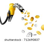 coins with dollar sign pump out ... | Shutterstock . vector #712690837