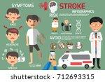 brain stroke disease... | Shutterstock .eps vector #712693315