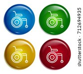 wheelchair multi color gradient ...
