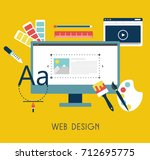 web design flat design. vector...