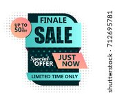 sale banner design. vector... | Shutterstock .eps vector #712695781