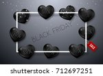 black friday sale poster with...   Shutterstock .eps vector #712697251