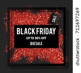 black friday sale poster with...   Shutterstock .eps vector #712697269