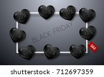 black friday sale poster with...   Shutterstock .eps vector #712697359