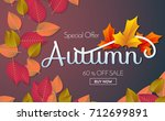 autumn sale template banner... | Shutterstock .eps vector #712699891