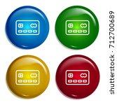 cblueit card multi color... | Shutterstock .eps vector #712700689