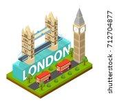 london city famous landmark of... | Shutterstock .eps vector #712704877