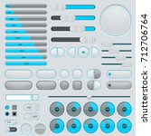 set of gray and blue web icons... | Shutterstock .eps vector #712706764