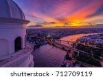 landscaped areas buddha yodfa...   Shutterstock . vector #712709119