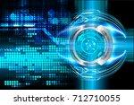 binary circuit future... | Shutterstock . vector #712710055