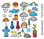 the doodle symbols of the... | Shutterstock .eps vector #712711201