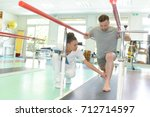 during a mobility therapy | Shutterstock . vector #712714597