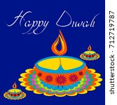 diwali greetings with... | Shutterstock .eps vector #712719787
