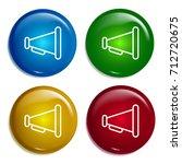 megaphone multi color gradient...