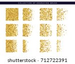set brush stipple gold pattern... | Shutterstock .eps vector #712722391