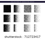 set brush stipple pattern for... | Shutterstock .eps vector #712723417